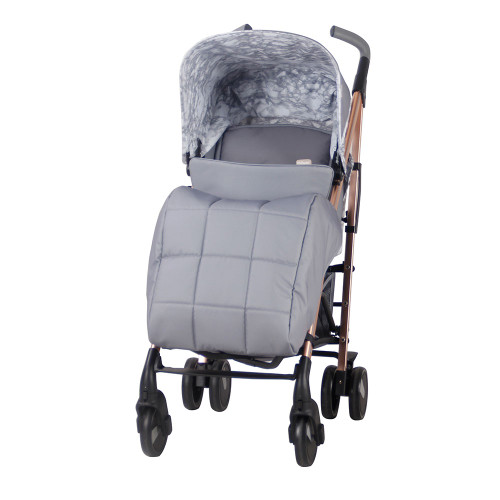 My Babiie MB51 Pushchair - Samantha Faiers/Rose Gold & Grey Marble - footmuff