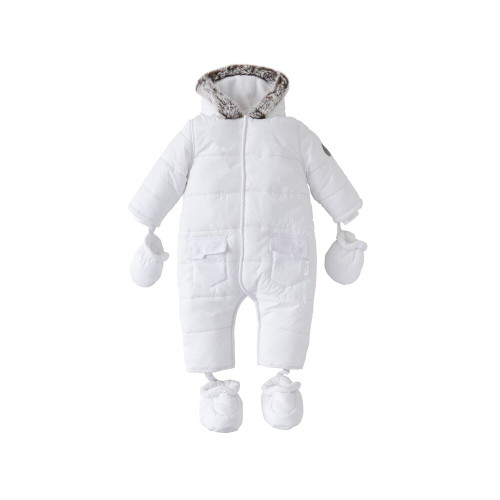 Silver Cross Quilted Pramsuit 3-6m - White