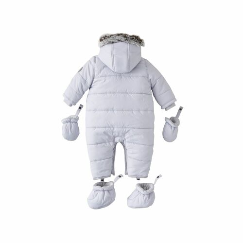 Silver Cross Quilted Pramsuit 3-6m - Grey