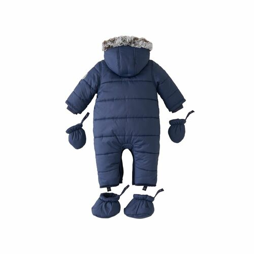 Silver Cross Quilted Pramsuit 3-6m - Navy