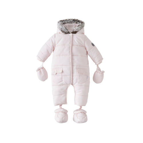 Silver Cross Quilted Pramsuit 3-6m - Pink