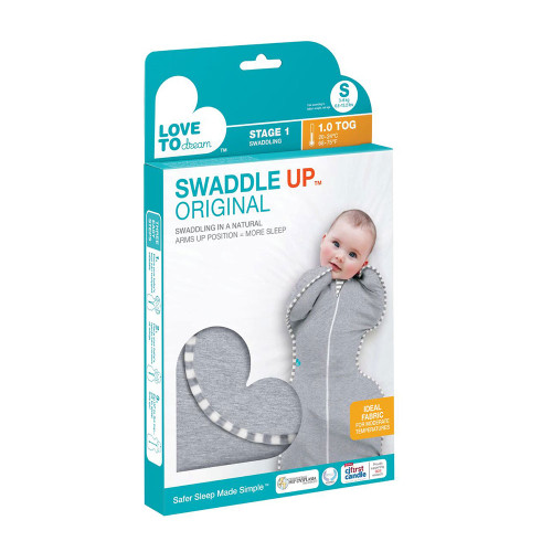 Love To Dream Swaddle UP Original 1.0 TOG / S / Grey (box)