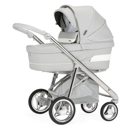 Bebecar V-Pack + Car Seat, LA3 Kit & Raincover - Silver Dollar (966) - carrycot mode