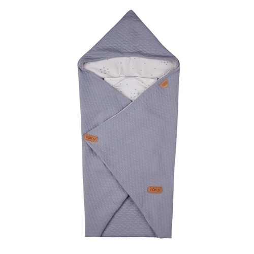 Voksi Baby Wrap - Light Grey Star