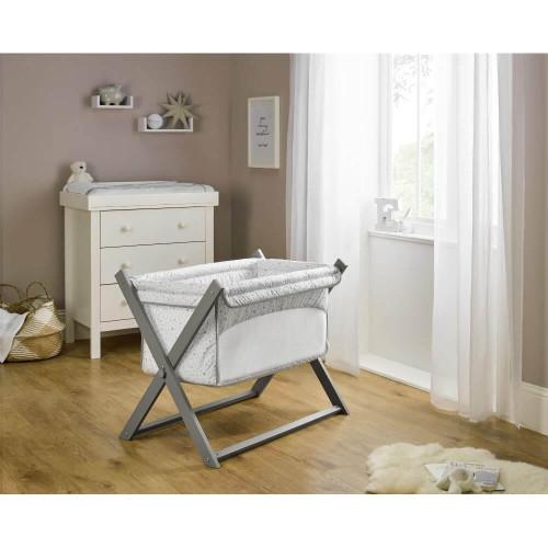 Clair de Lune Stars & Stripes Folding Breathable Crib