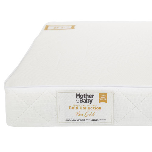 Mother&Baby Anti Allergy Sprung Cot Bed Mattress - White + FREE Blanket