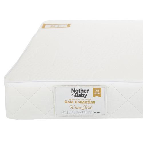 Mother&Baby White Gold Anti Allergy Pocket Sprung Cot Mattress - White