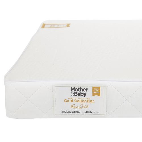 Mother&Baby Anti Allergy Sprung Cot Mattress - White + FREE Blanket