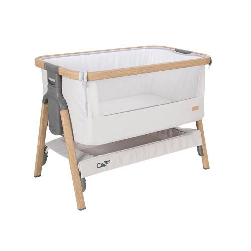Tutti Bambini CoZee® Bedside Crib - Oak and Silver