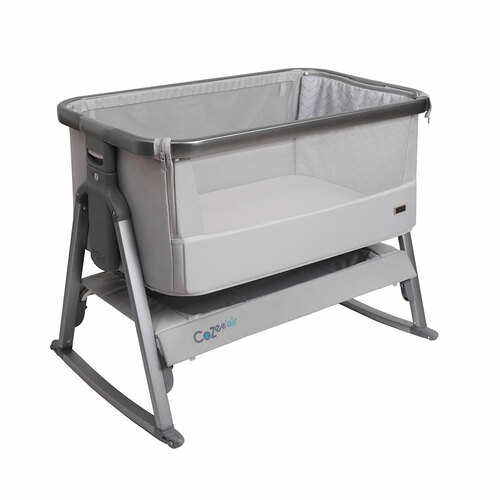 Tutti Bambini CoZee® Air Bedside Crib - Space Grey and Slate