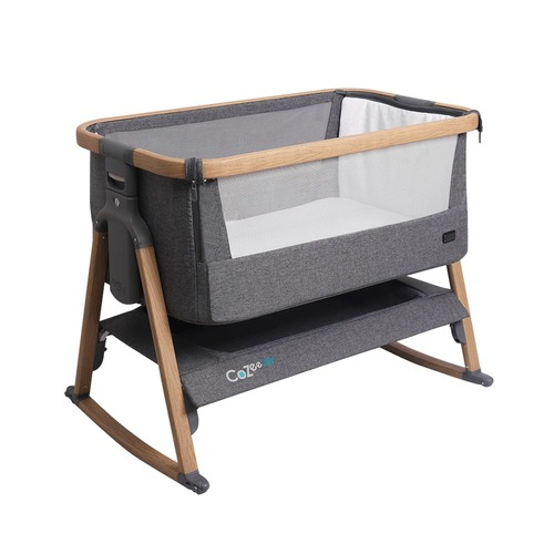 Tutti Bambini CoZee® Air Bedside Crib - Oak and Charcoal