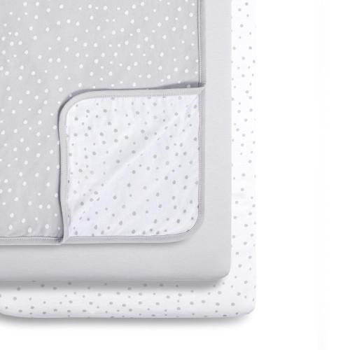 Snuz 3pc Crib Bedding Set - Grey Spots