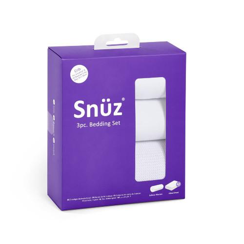 Snuz 3pc Crib Bedding Set - White