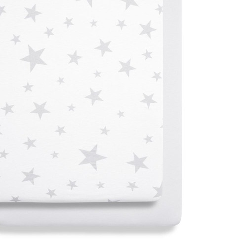 Snuz Crib 2 Pack Fitted Sheets - Stars