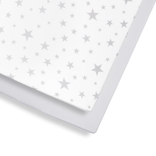 Snuz 2 Pack Cot & Cot Bed Fitted Sheet - Stars