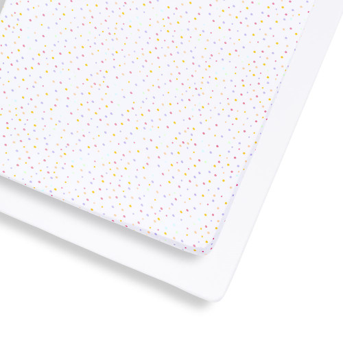 Snuz 2 Pack Cot & Cot Bed Fitted Sheet - Colour Spots