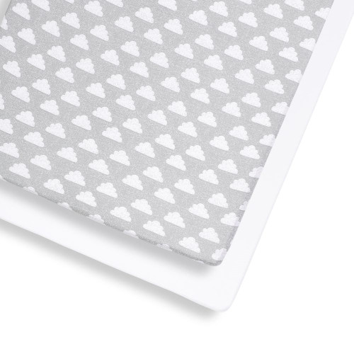 Snuz 2 Pack Cot & Cot Bed Fitted Sheet - Cloud Nine