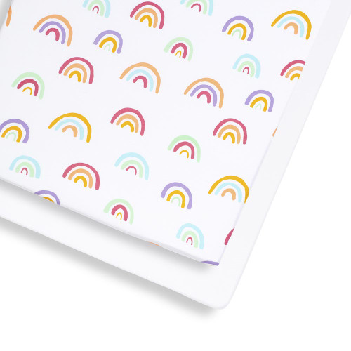 Snuz 2 Pack Cot & Cot Bed Fitted Sheet - Colour Rainbow