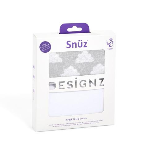 Snuz 2 Pack Moses Basket/Pram Fitted Sheets - Cloud Nine
