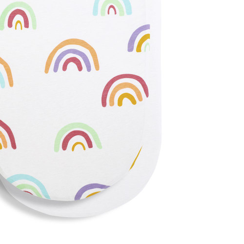Snuz 2 Pack Moses Basket/Pram Fitted Sheets - Colour Rainbow