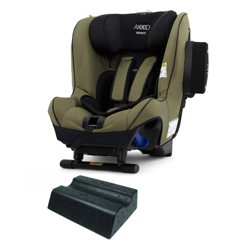 Axkid Minikid 2.0 Car Seat + FREE Angle Adjusting Wedge - Moss