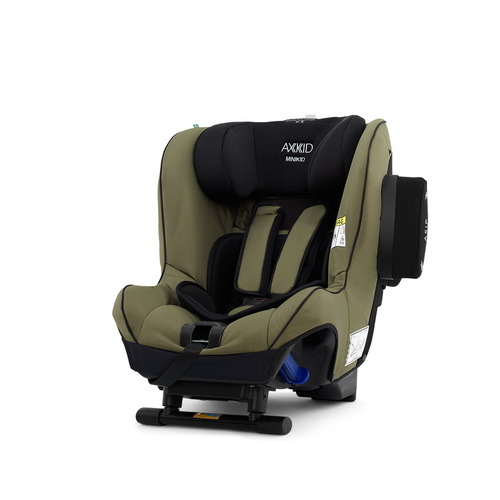 Axkid Minikid 2.0 Car Seat + FREE Angle Adjusting Wedge - Moss