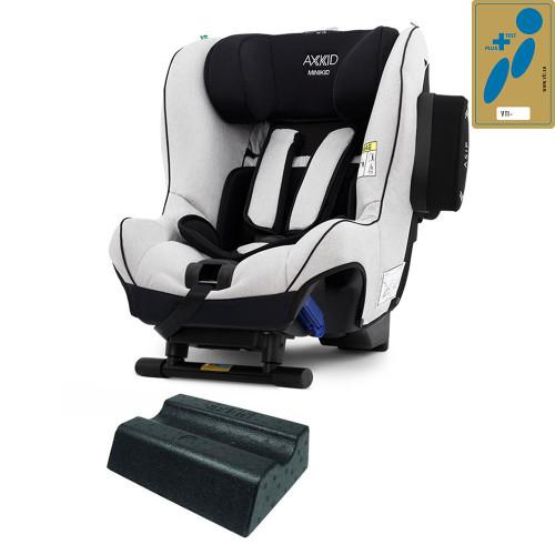 Axkid Minikid 2.0 Car Seat + FREE Angle Adjusting Wedge - Sky Grey Premium