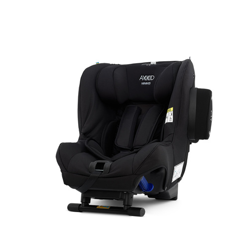 Axkid Minikid 2.0 Car Seat + FREE Angle Adjusting Wedge - Shell Black Premium