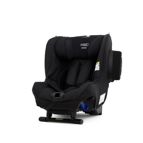 Axkid Minikid 2.0 Car Seat + FREE Angle Adjusting Wedge - Shell Black Premium