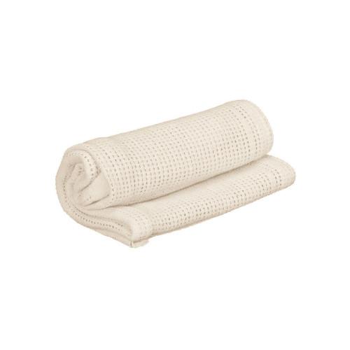 Cuddles Collection Pram Cellular Blanket - Cream