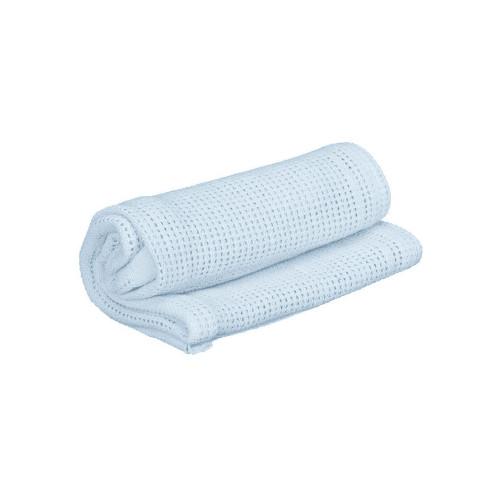 Cuddles Collection Pram Cellular Blanket - Baby Blue
