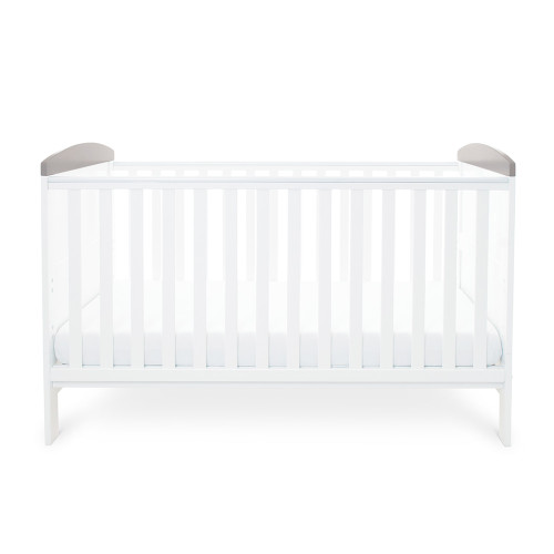 Ickle Bubba Style Cot Bed - Elephant Love Grey