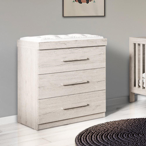 Ickle Bubba Grantham Chest of Drawers / Changer - Grey Oak