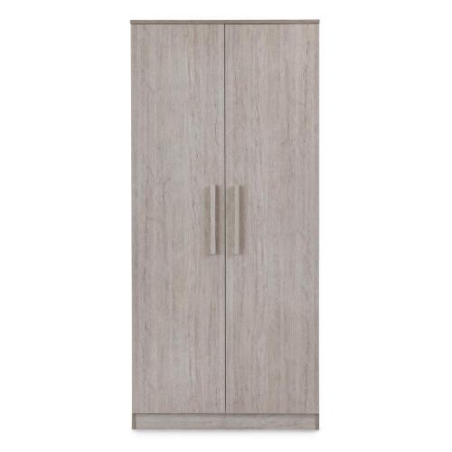 Ickle Bubba Grantham Double Wardrobe - Grey Oak