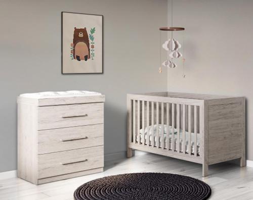 Ickle Bubba Grantham 2 Piece Furniture Set - Grey Oak