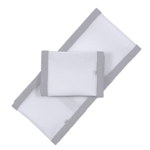 Purflo Breathable Cot Bumper - Cloud Grey
