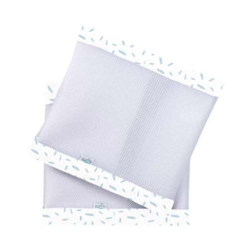 Purflo Breathable Cot Bumper - Misty Blue
