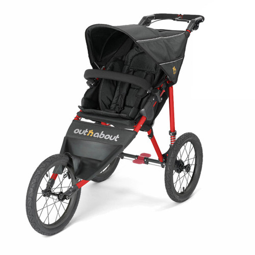 Out n About Nipper Sport - Red Frame/Raven Black