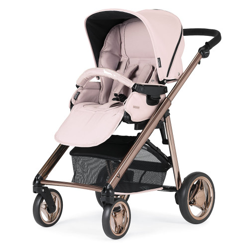 Bebecar V-Pack + Lie Flat Car Seat, LA3 Kit & Raincover - Pink Opal (057)