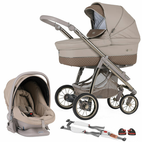 Bebecar Pack Ip-Op Classic XL + Car Seat, LA3 Kit - Truffle (003)