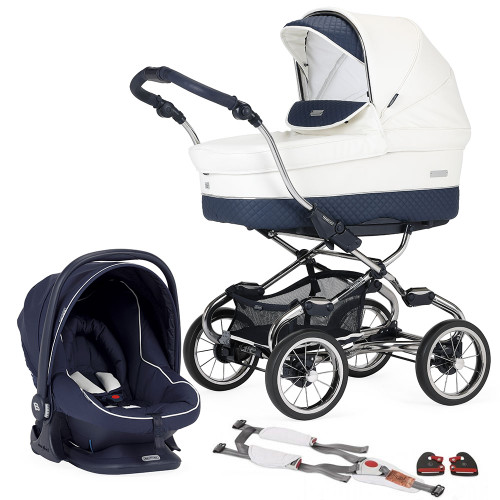 Bebecar Pack Stylo XL + Car Seat, LA3 Kit & Raincover - Oceanic (006)
