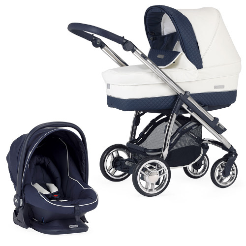 Bebecar M-City + Car Seat & Raincover - Oceanic (006)