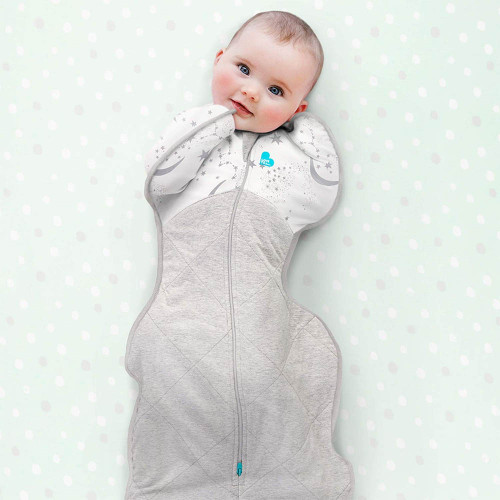 Love To Dream Swaddle UP Warm 2.5 TOG / M / Moon Stars White