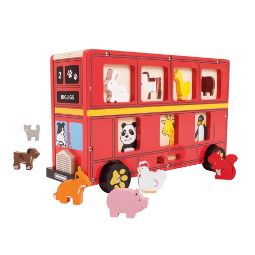 Bigjigs Red Bus Sorter
