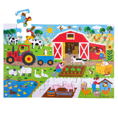 Bigjigs Farmyard Floor Puzzle (48 piece)
