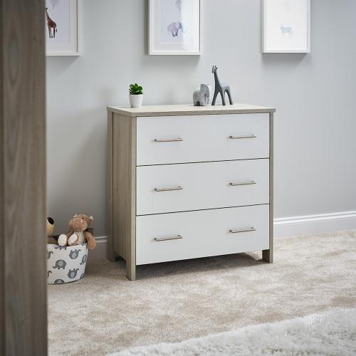 Obaby Nika Changing Unit - Grey Wash & White
