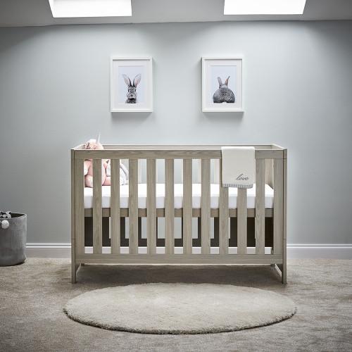 Obaby Nika Cot Bed - Grey Wash