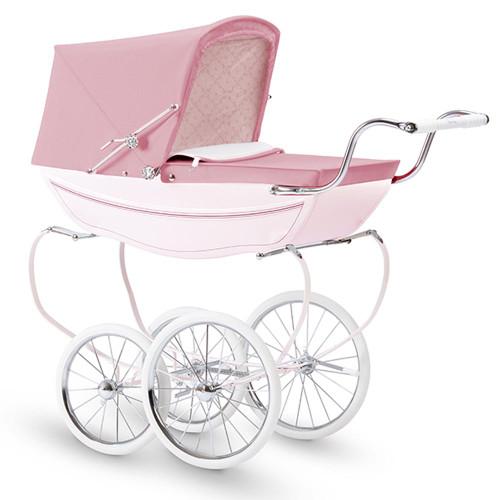 Silver Cross Oberon Dolls Pram - Pink