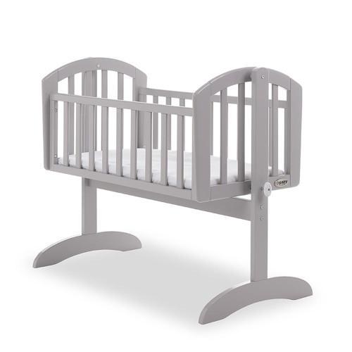 Obaby Sophie Swinging Crib + Mattress - Warm Grey