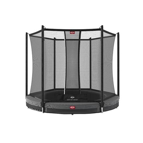 BERG Round Favorit InGround 200 Trampoline + Safety Net Comfort - Grey